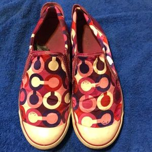 Colorful Coach Slip on Shoes